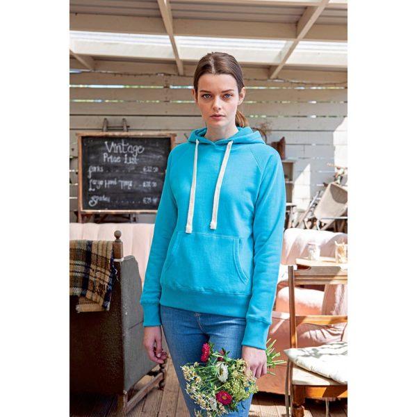 Mantis Women's Superstar Hoodie Damen in Surf Blue - Model